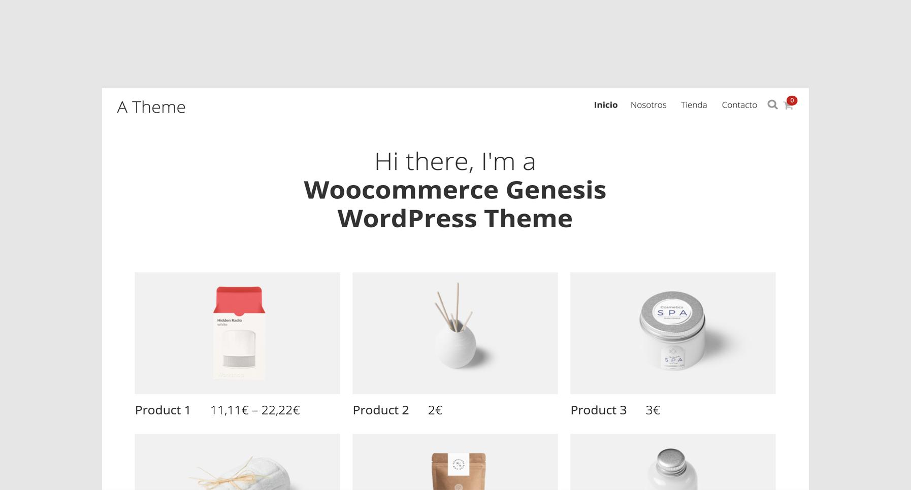 Plantilla WooCommerce Genesis Framework