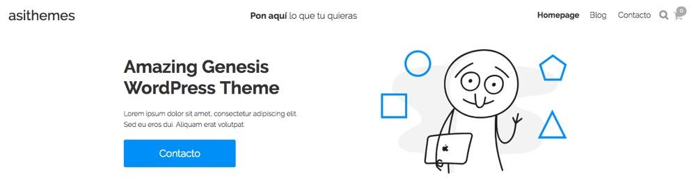 Ejemplo claim cabecera T Theme AsiThemes