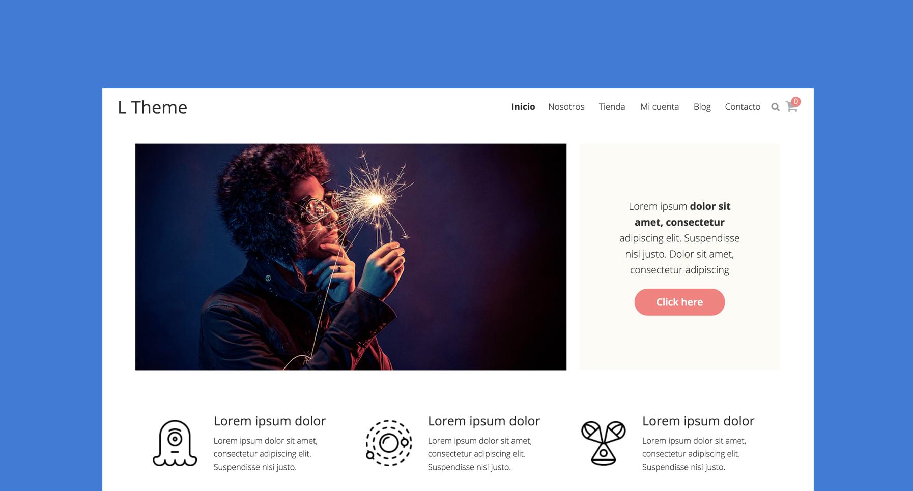 plantilla tienda online wordpress